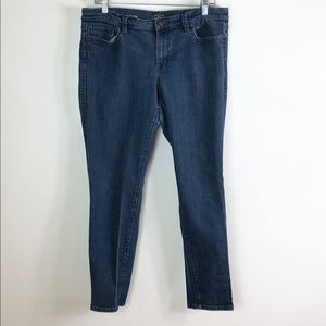 LOFT Modern Skinny Indigo Blue Jeans size 14